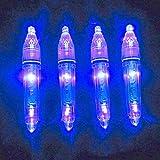 (エキップ) Equipe 水中 集魚灯 LED ライト 同色 4本 セット 夜釣り イカ釣り フィッシング (青)