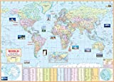 World Political Map School Office Map Wall Map HUGE SIZE (140x100cm)