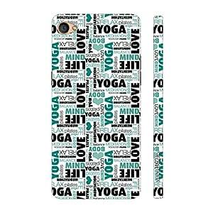 Enthopia Designer Hardshell Case Yoga Meditate Relax Back Cover for Oppo F1S