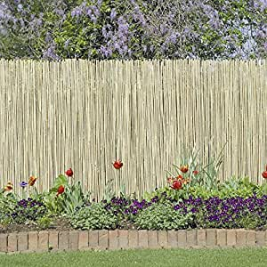 Amazon Com Outdoor Garden Fence Constructed From Bamboo