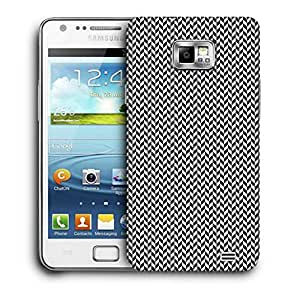 Snoogg Black And White Strips 1 Printed Protective Phone Back Case Cover For Samsung Galaxy S2 / S II