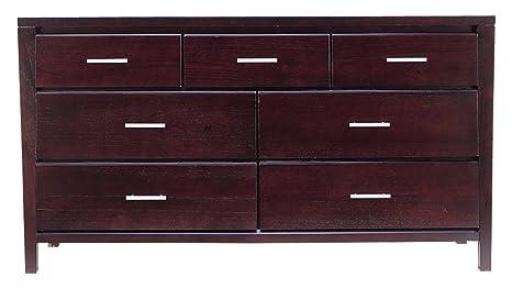 Modus Furniture Nevis Seven Drawer Dresser, Espresso