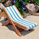 Miniature Fairy Garden Beach Lounge Chair by Made in China [並行輸入品]
