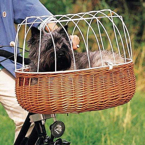 Artikelbild: Fahrradkorb mit Drahtaufsatz für die Lenkstange, inkl. Haltevorrichtung, B