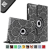 Fintie Apple iPad 2/3/4 Case - 360 Degree Rotating Stand Smart Case Cover for iPad with Retina Display (iPad 4th Generation), the new iPad 3 & iPad 2 (Automatic Wake/Sleep Feature), ZZ-Lazy Bull's Eye Black