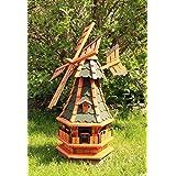 Gartenwindmühle mit Solar grün Typ 4.1