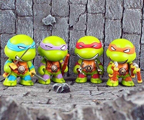 Tmnt Teenage Mutant Ninja Turtles Q Edition Toys Pvc Figure Dolls Classic Toys 4Pcs/Set Fga382