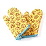 JaipurSe Yellow Kitchen Oven Gloves / Mitts