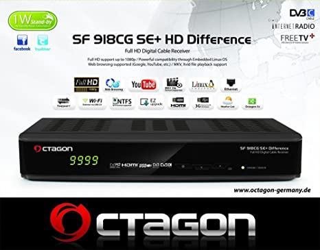 Octagon SF 918CG SE+ Difference Full HD Linux Kabel Receiver