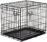 AmazonBasics Double-Door Folding Metal Dog Crate, 24x18x19-Inches from AmazonBasics
