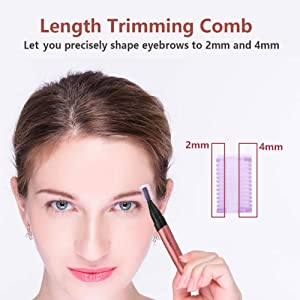 Women Eyebrow Precision Trimmer - Liberex Lady Facial Peach Fuzz Shaver Electric Razor Remover Kit for Brows Face Body, Painless Instant Hair Removal, Battery Operated