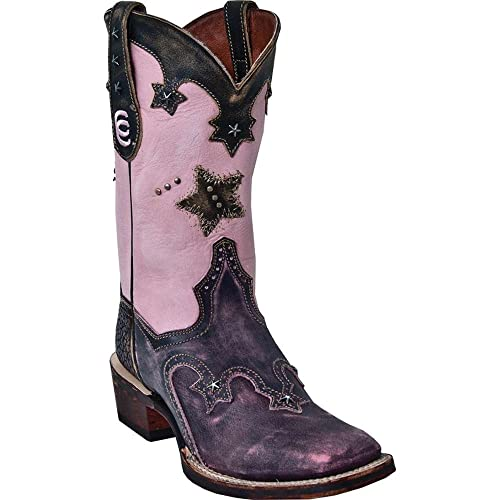Dan Post Womens Vintage Star Cowgirl Boot Square Toe