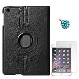 DMG Full 360 Rotating Cover Case For Apple Ipad Mini 3 (Black) + 3.5mm Dust Jack + Matte Screen