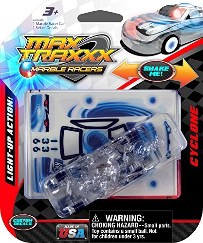 Max Traxxx Cyclone Light Up Marble Racer Car