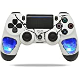 Skulls Blue PS4 PRO Rapid Fire Custom Modded Controller 40 Mods for All Major Shooter Games, Auto Aim, Quick Scope Sniper Breath & More (CUH-ZCT2U) (Color: white)
