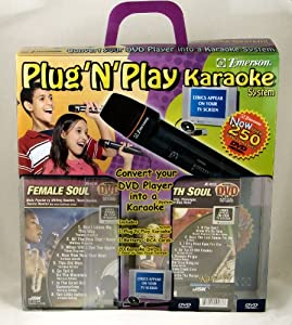 Emerson Plug N Play Karoke System Soul 20 DVDS 250 Songs
