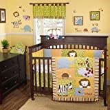 Cocalo Jungle Talk Four Piece Crib Set