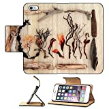 Flip Pu Leather Wallet Case Apple iPhone 6 Plus iPhone 6S Plus MSD Premium Driftwood and seaweed abstract design over old oak background IMAGE 26523890