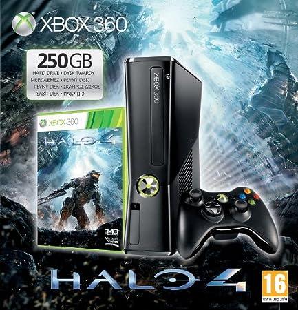Console Xbox 360 250 Go, Manette sans fil, micro-casque, Halo 4