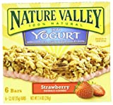 Nature Valley Chewy Granola Bars, Strawberry Yogurt, 6-Count Boxes (Pack of 6)