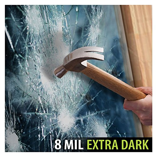BDF S8MB05 Window Film Security and Privacy 8 Mil Black 05 (Very Dark) - 24in X 12ft