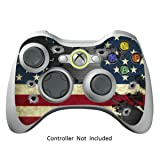 Skin Stickers for Xbox 360 Controller - Vinyl High Gloss Sticker for X360 Slim Wired Wireless Game Controllers - Protectors Stickers Controller Decal - Battle Torn Stripes [ Controller Not Included ]