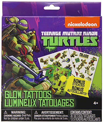 Nickelodeon Teenage Mutant Ninja Turtles Glow Tattoos with Bonus Stickers - 1