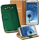 OneFlow PREMIUM - Book-Style Case im Portemonnaie Design mit Stand-Funktion - für Samsung Galaxy S3 / S3 Neo (GT-i9300 / GT-i9301) - SMARAGDGRÜN