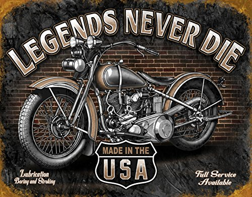 Legends - Never Die Tin Sign , 16x12 0