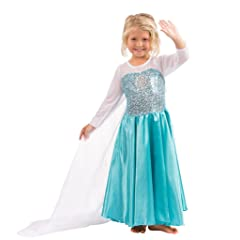Elsa Dress Snow Queen Costume Elsa Gown Girls Princess Costume (2yr - 10 Yr)