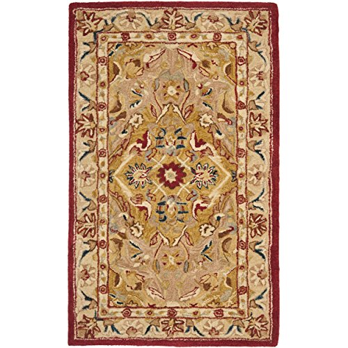 Safavieh Anatolia Collection AN534A Handmade Gold and Ivory Wool Area Rug, 4 feet by 6 feet (4' x 6')