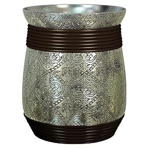 Nu Steel Wastebasket Silver Resin Oil Rubbed Bronze Bathroom Wastebasket