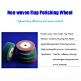 5inch Non-woven Abrasive Grinding Flap Wheel Nylon Fiber Wheel Scouring Buffing Pad for Rotary Tool 2inch Thickness 120 Grit Green (Color: Green, Tamaño: 125*50*20)