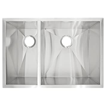 LessCare LP3L  Zero-Radius Undermount Stainless Steel Double Basin Kitchen Sink LP3L