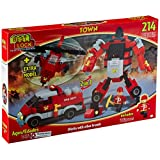 Best Lock 214 Piece Fire Robot 2-in-1 Block Set, Multi Color