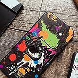 STUSSY ステューシー iPhone7用ケース iPhone7plusロゴデザイン ブランド ヒップホップドクロ 指輪スタンド (iphone7 plus, ブラック) [並行輸入品]