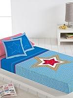 Lief! Juego De Sábanas Big Star (Azul / Blanco)