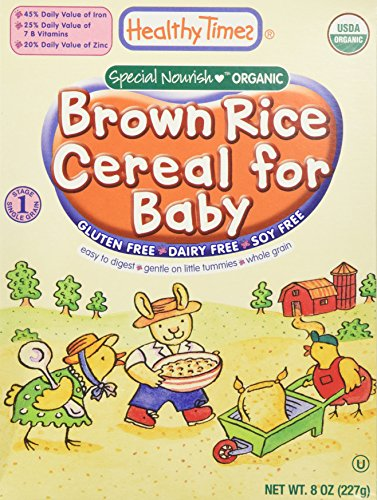 Organic Baby Cereal Brown Rice 8 oz (227 grams) by Healthy Times (Wheat Free Baby Food compare prices)