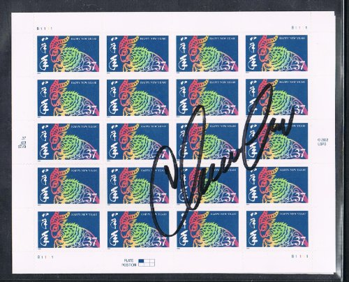 2003 - 11th USA Happy New Year Stamp For The Year of the Ram - Autographed by Stamp Designer Clarence Lee of Honolulu