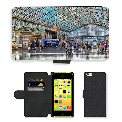Hot Style Cell Phone Card Slot PU Leather Wallet Case // M00171189 Aberdeen Scotland Train Station Depot // Apple iPhone 5C