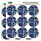 Blue Computer Motherboard Processor CPU Memory 2 Scrapbooking Crafting Stickers