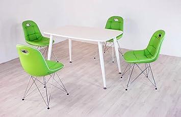 Essstisch PEP mit Stuhlen Anja 5tlg. Kombi Mint weiß