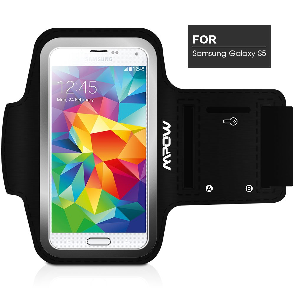 Mpow® Running Sport Sweatproof Armband Case + Key Holder for Samsung Galaxy S5