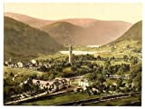 Victorian Photochrom-Reproduction Acrylic Fridge Magnet-Glendalough Co Wicklow