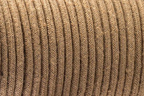 2-core-intrecciato-colore-marrone-vintage-rotonda-in-seta-tessuto-lampada-cavo-flessibile-cavo