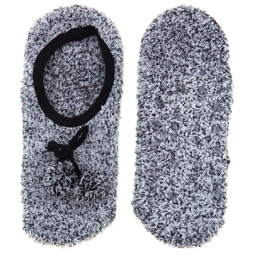 Image of GMI Snuggle Feet Black Slipper Socks for Women (B009TH1VY4)