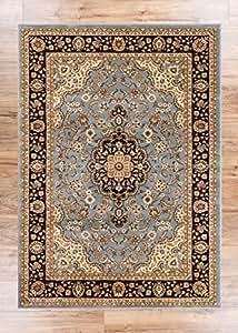 Amazon Com Noble Medallion Light Blue Persian Floral