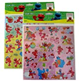 Sesame Street Elmo Sticker ~ Large foil stickers 2 pcs Set