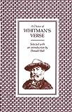 A Choice of Whitman's Verse (0571086136) by Whitman, Walt