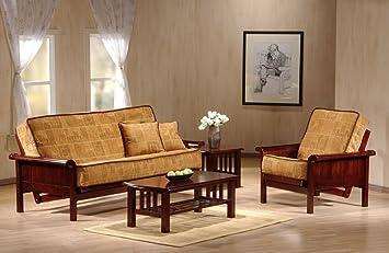 J&M Furniture 175658-Q-RSWD Soho Futon Frame